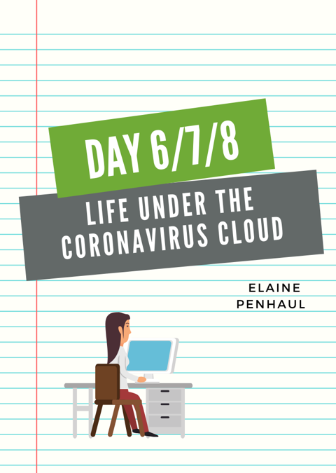 Life under the Coronavirus Cloud – Days 6,7 and 8!